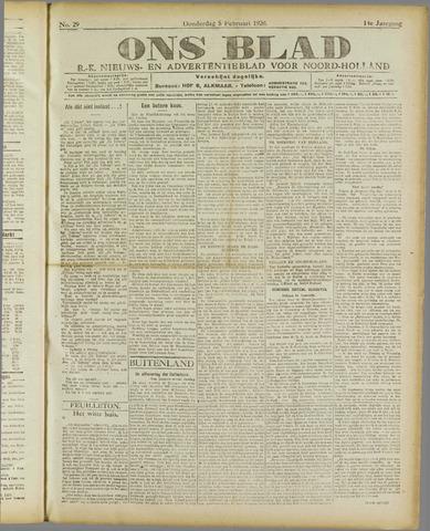 Ons Blad : katholiek nieuwsblad voor N-H 1920-02-05