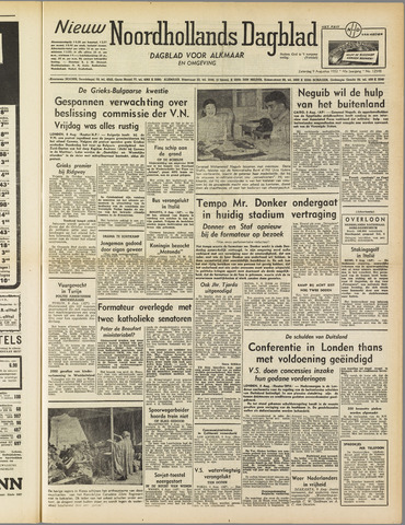 Nieuw Noordhollandsch Dagblad : voor Alkmaar en omgeving 1952-08-09