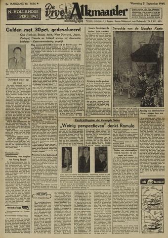 De Vrije Alkmaarder 1949-09-21