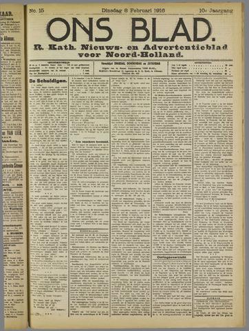 Ons Blad : katholiek nieuwsblad voor N-H 1916-02-08