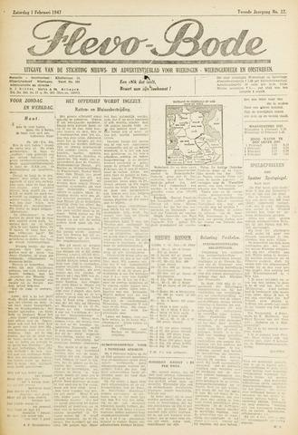 Flevo-bode: nieuwsblad voor Wieringen-Wieringermeer 1947-02-01