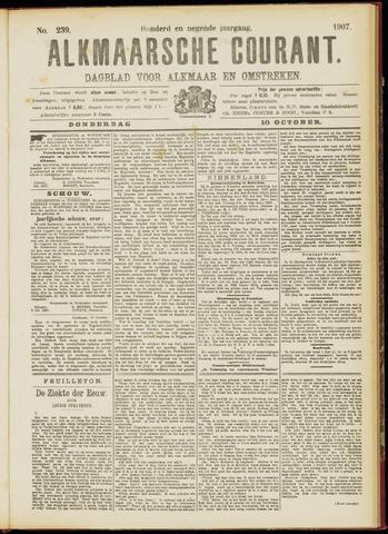 Alkmaarsche Courant 1907-10-10