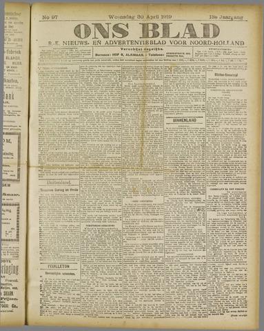 Ons Blad : katholiek nieuwsblad voor N-H 1919-04-30