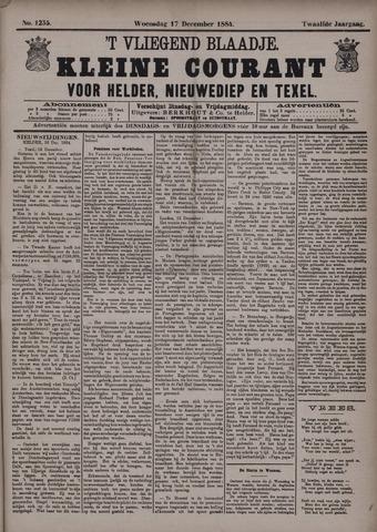 Vliegend blaadje : nieuws- en advertentiebode voor Den Helder 1884-12-17
