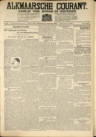 Alkmaarsche Courant 1934-09-27