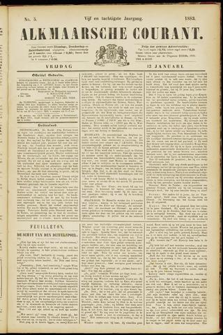 Alkmaarsche Courant 1883-01-12