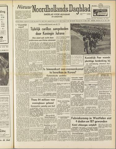 Nieuw Noordhollandsch Dagblad : voor Alkmaar en omgeving 1952-04-05