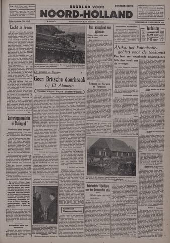 Dagblad Noord-Holland, Schager editie 1942-11-05