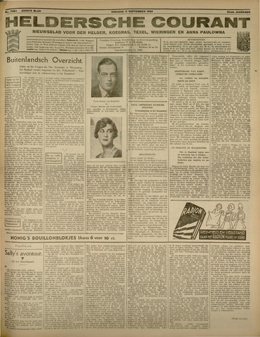 Heldersche Courant 1934-09-11