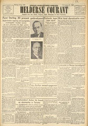 Heldersche Courant 1949-09-19