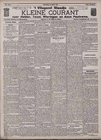 Vliegend blaadje : nieuws- en advertentiebode voor Den Helder 1913-04-26