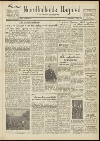 Nieuw Noordhollandsch Dagblad : voor Alkmaar en omgeving 1948-01-13