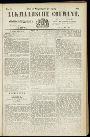 Alkmaarsche Courant 1892-01-22