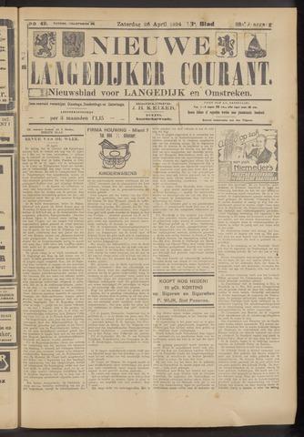 Nieuwe Langedijker Courant 1924-04-26