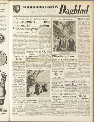 Noordhollands Dagblad : dagblad voor Alkmaar en omgeving 1958-05-14