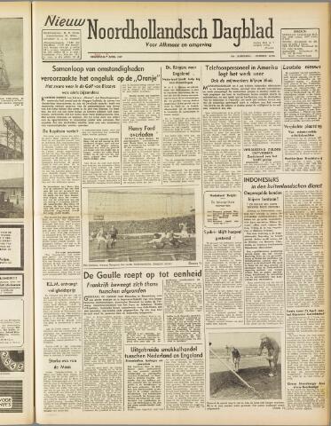 Nieuw Noordhollandsch Dagblad : voor Alkmaar en omgeving 1947-04-08