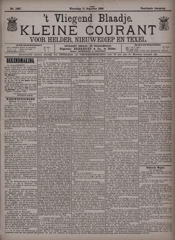 Vliegend blaadje : nieuws- en advertentiebode voor Den Helder 1886-08-11