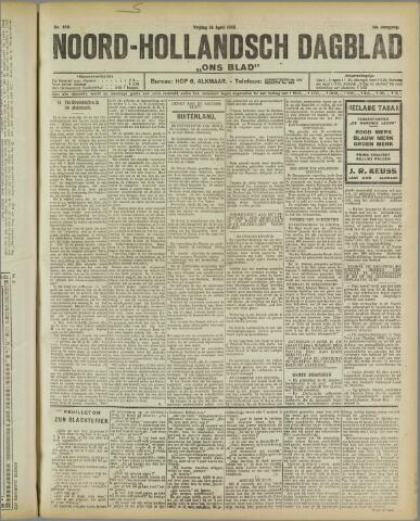 Ons Blad : katholiek nieuwsblad voor N-H 1922-04-14