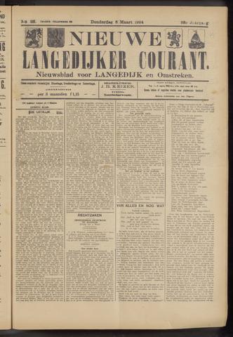 Nieuwe Langedijker Courant 1924-03-06