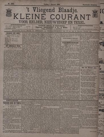 Vliegend blaadje : nieuws- en advertentiebode voor Den Helder 1886-01-01