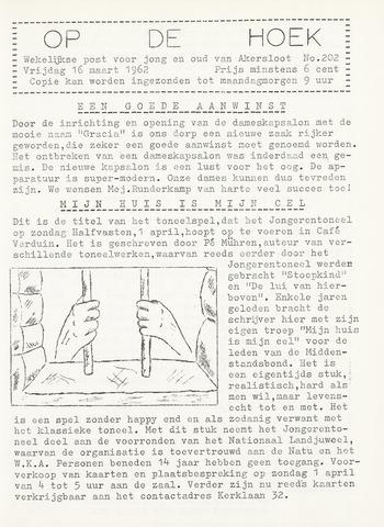 Op De Hoek, weekblad voor Akersloot 1962-03-16