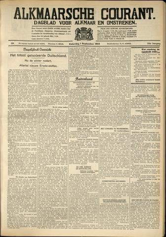 Alkmaarsche Courant 1934-09-01