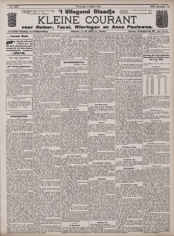 Vliegend blaadje : nieuws- en advertentiebode voor Den Helder 1914-03-18