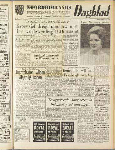 Noordhollands Dagblad : dagblad voor Alkmaar en omgeving 1961-08-04