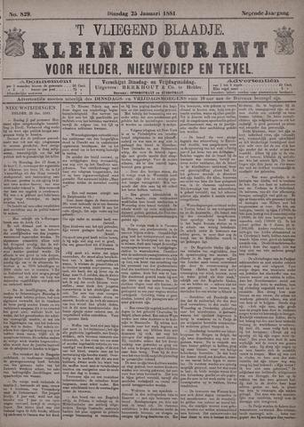 Vliegend blaadje : nieuws- en advertentiebode voor Den Helder 1881-01-25