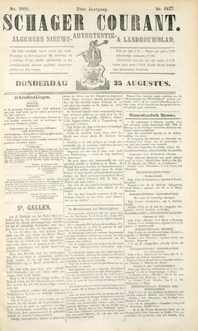 Schager Courant 1881-08-25