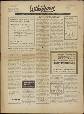 Uitkijkpost : nieuwsblad voor Heiloo e.o. 1956-07-27