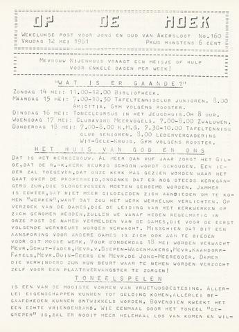 Op De Hoek, weekblad voor Akersloot 1961-05-12