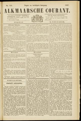 Alkmaarsche Courant 1887-11-25