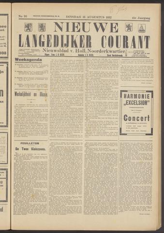 Nieuwe Langedijker Courant 1932-08-16