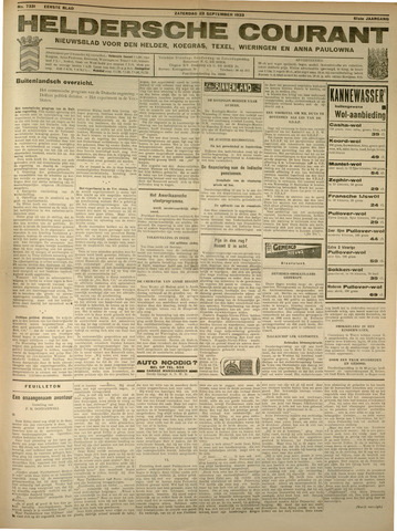 Heldersche Courant 1933-09-23
