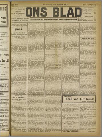 Ons Blad : katholiek nieuwsblad voor N-H 1917-03-24