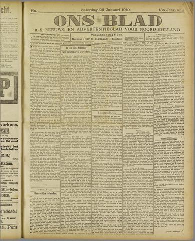 Ons Blad : katholiek nieuwsblad voor N-H 1919-01-25