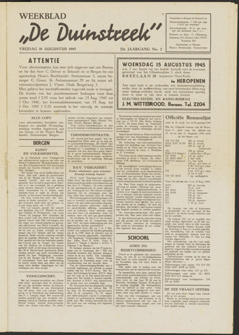 De Duinstreek 1945-08-10