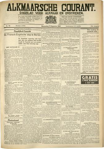 Alkmaarsche Courant 1933-08-09