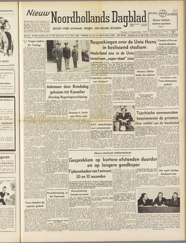 Nieuw Noordhollandsch Dagblad : voor Alkmaar en omgeving 1949-09-16