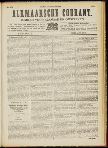 Alkmaarsche Courant 1909-11-18