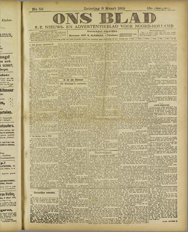 Ons Blad : katholiek nieuwsblad voor N-H 1919-03-08