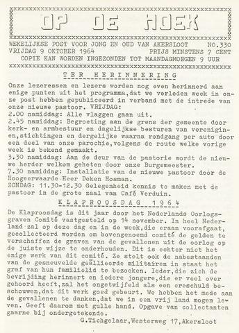 Op De Hoek, weekblad voor Akersloot 1964-10-09