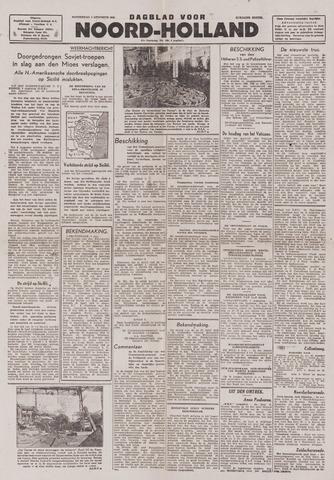 Dagblad Noord-Holland, Schager editie 1943-08-05