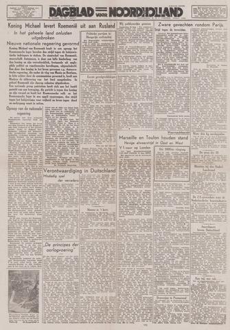 Dagblad Noord-Holland, Schager editie 1944-08-25