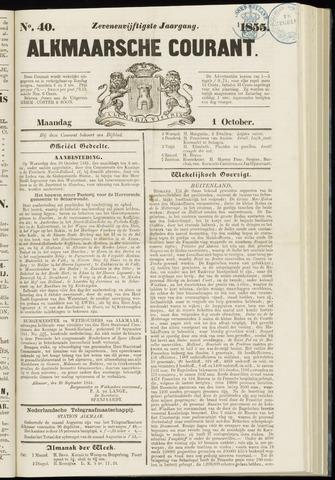 Alkmaarsche Courant 1855-10-01