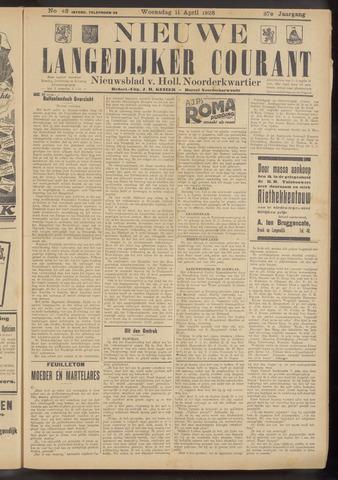 Nieuwe Langedijker Courant 1928-04-11