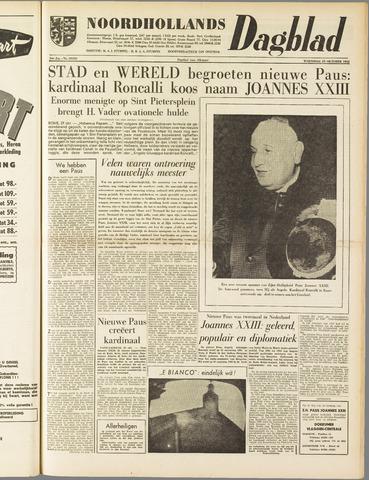Noordhollands Dagblad : dagblad voor Alkmaar en omgeving 1958-10-29