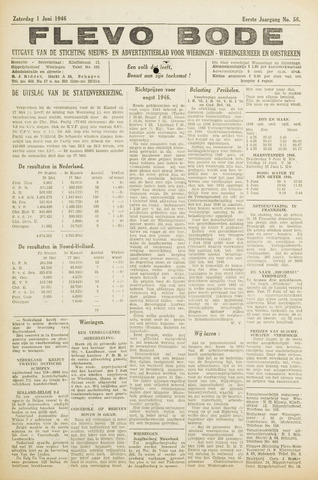 Flevo-bode: nieuwsblad voor Wieringen-Wieringermeer 1946-06-01