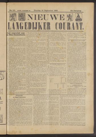 Nieuwe Langedijker Courant 1922-09-26